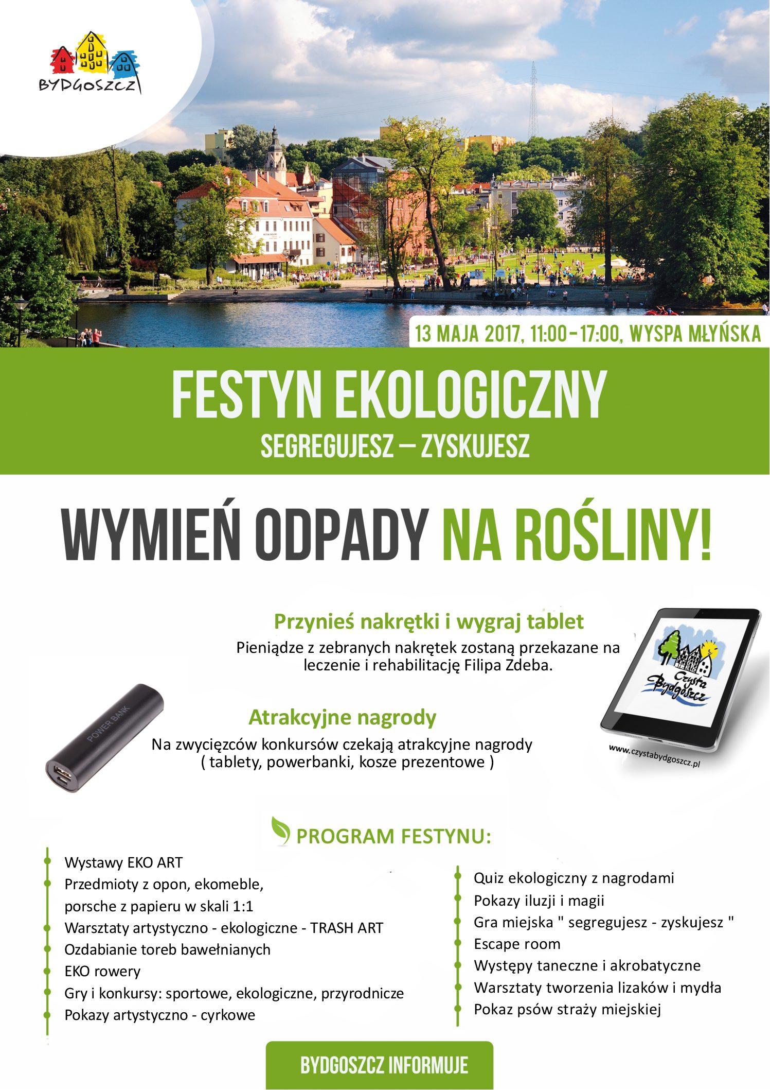 """Festyn ekologiczny """"Segregujesz odpady – Zyskujesz"""" już 13 maja"""