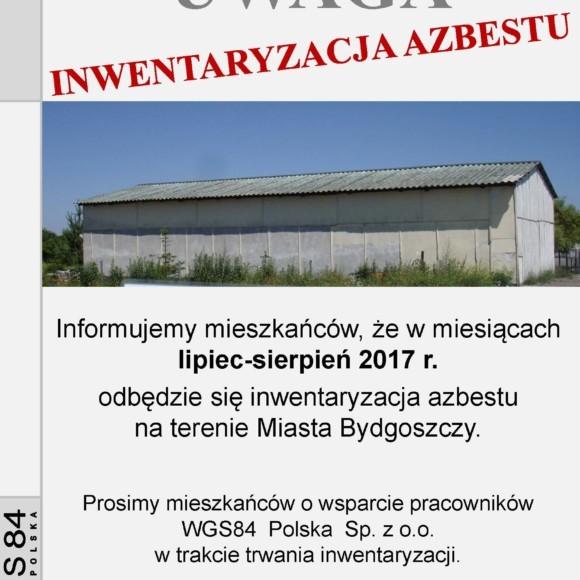 Inwentaryzacja wyrobów zawierających azbest na terenie Miasta Bydgoszczy