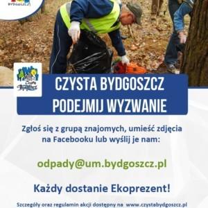 """Akcja """"Czysta Bydgoszcz. Podejmij wyzwanie"""" nadal trwa"""