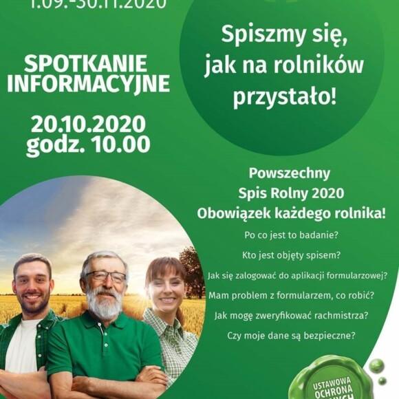 SPIS ROLNY 2020-spotkanie informacyjne